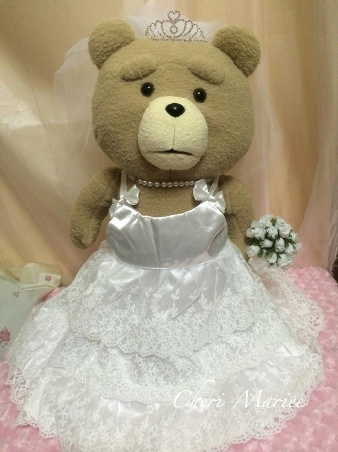 ぬいぐるみタキシード&ドレス(特大サイズ)